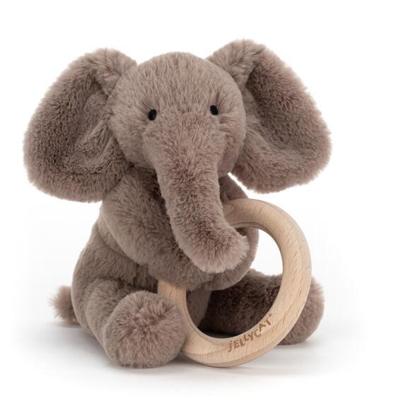 JELLYCAT - SHOOSU ELEPHANT RING TOY