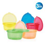 NUBY - 6PCK BOWLS-REUSABLE