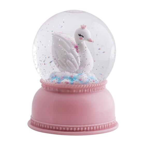 A LITTLE LOVELY COMPANY - SWAN SNOWGLOBE LIGHT