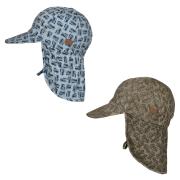 MP DENMARK/MELTON - CAP W/NECK & TIE W/PRINT - UV 50+