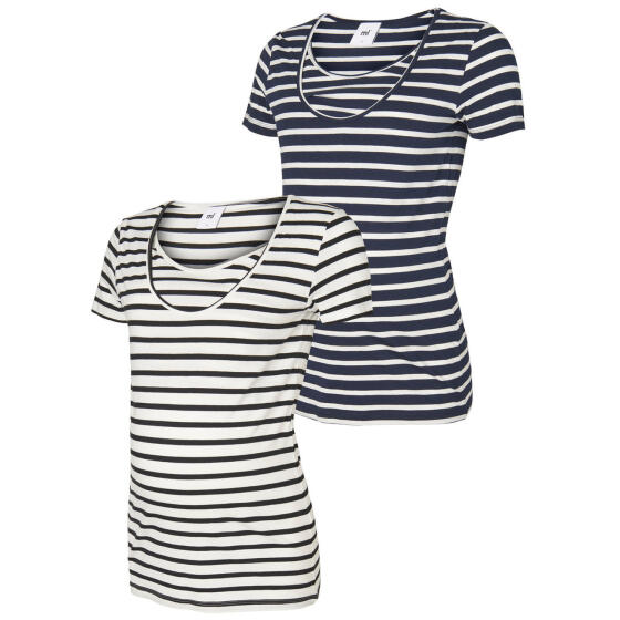 MAMALICIOUS - 2PK S/S LEA ORG NELL TOP - NF